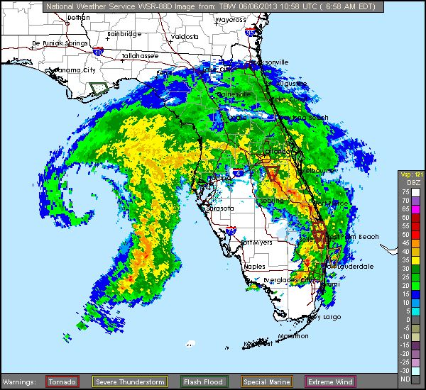 Radar Images Of Tropical Cyclones That Affected Florida