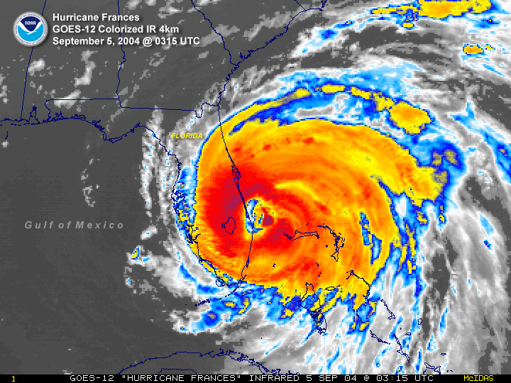 Satellite Images Of Tropical Cyclones That Affected Florida